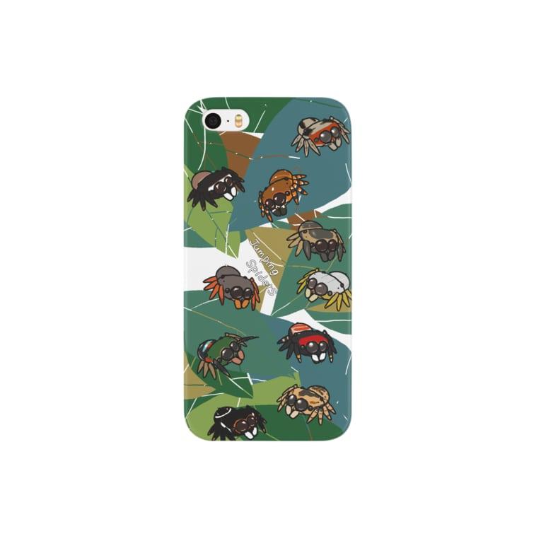Caruno to Kulaの葉っぱの上のまんまるハエトリグモ Smartphone cases