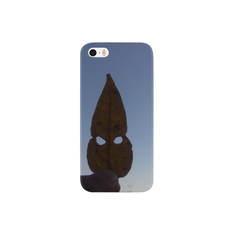 sinn_hiroの葉っぱ仮面 Smartphone cases