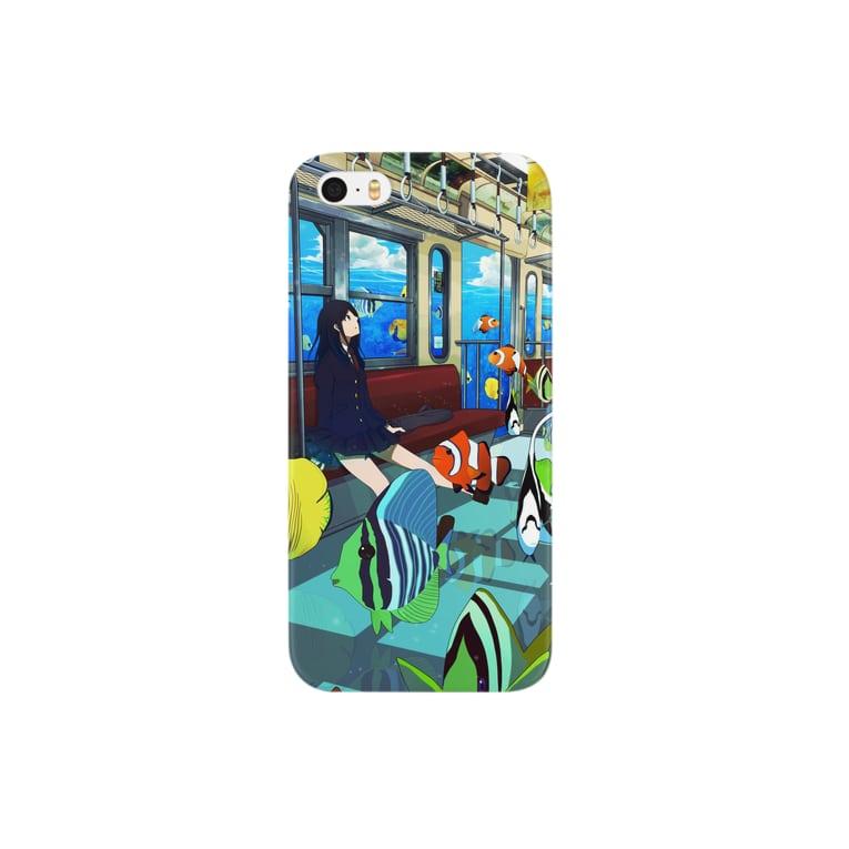 うお屋の海中電車 Smartphone cases