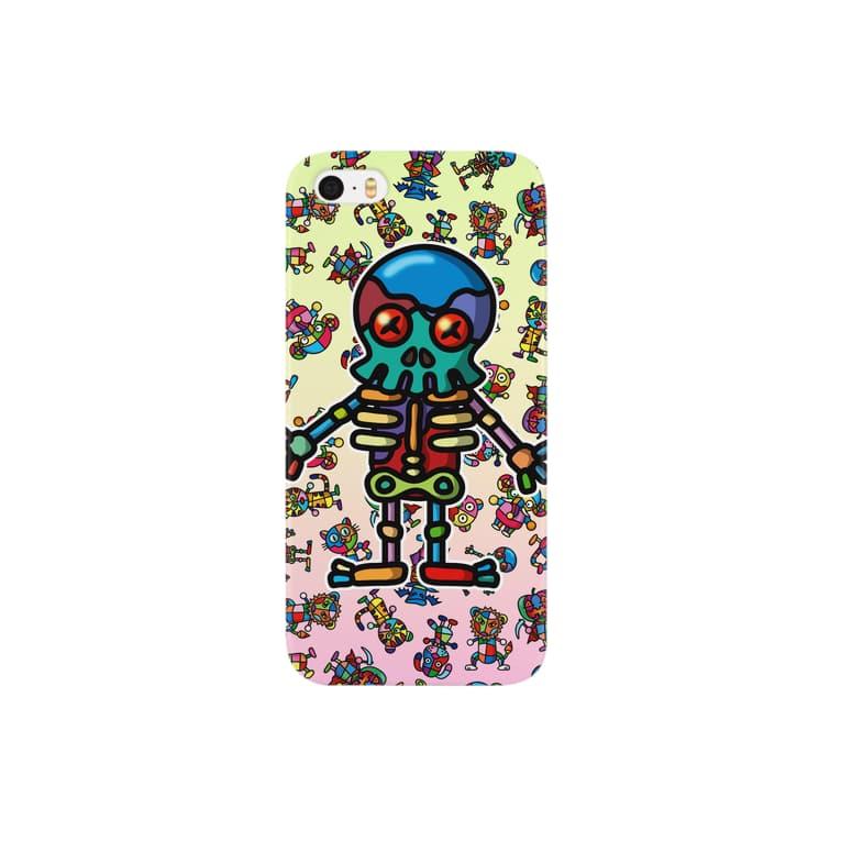 colorful skeleton スマートフォンケース