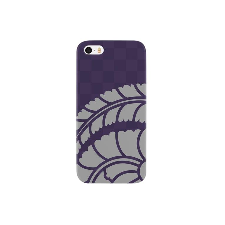 賽子の藤巴 銀 Smartphone cases