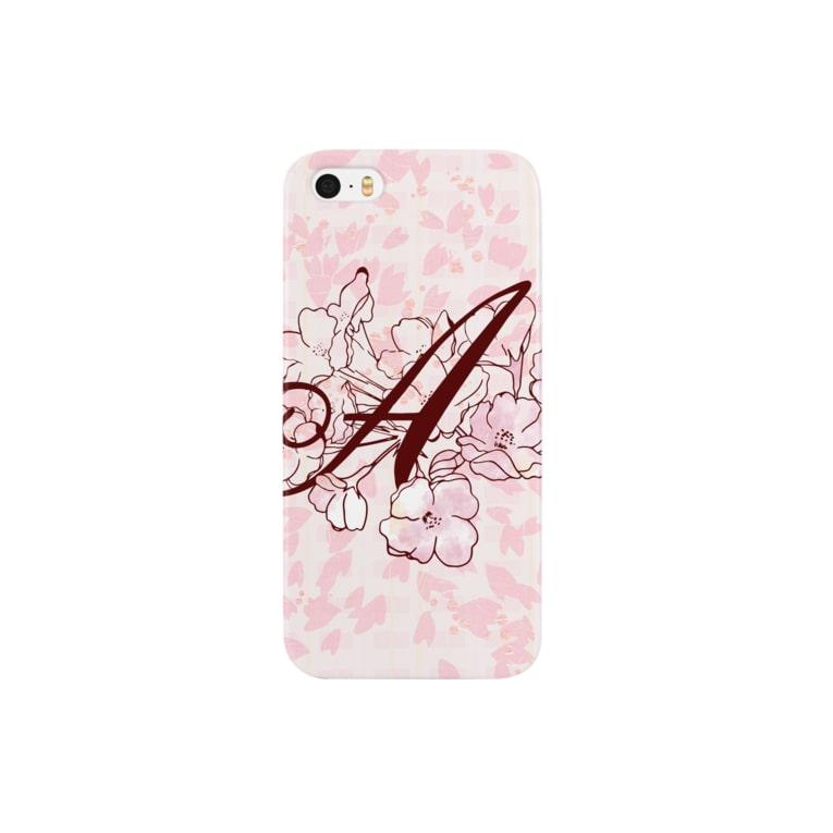 """sakura-A-iphone"" Decorative alphabetシリーズ スマートフォンケース"