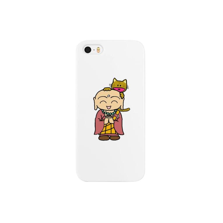 comnet-designのねことお地蔵さま02 Smartphone cases