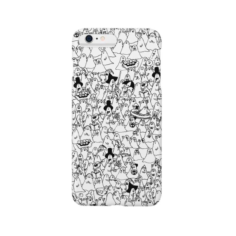 goodskapiiのおばけくんうじゃうじゃmono Smartphone cases