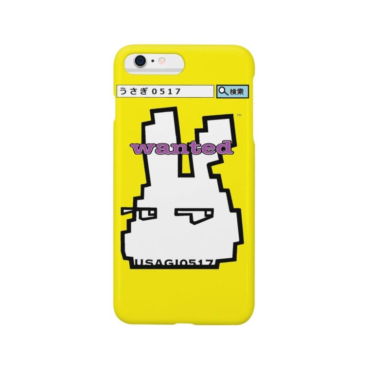 うさぎ0517のうさぎ0517★WANTED黄 Smartphone cases