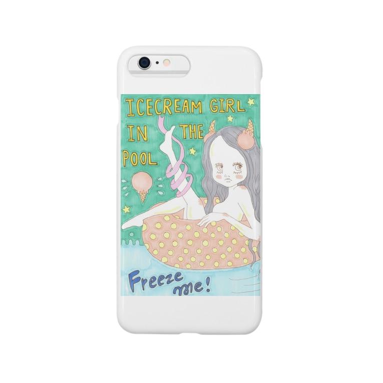 kaoru_littieのIce cream girl in the pool            Smartphone cases
