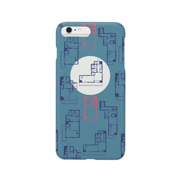 yumeco☂の間取り図(iphone case) Smartphone cases
