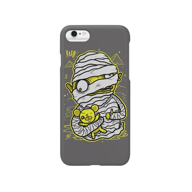 HUGオフォシャルショップのMummy Grey Smartphone cases