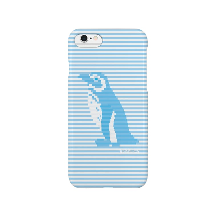 This is Mine(ディスイズマイン)のインビジブルボーダーペンギン:ブルー Smartphone cases