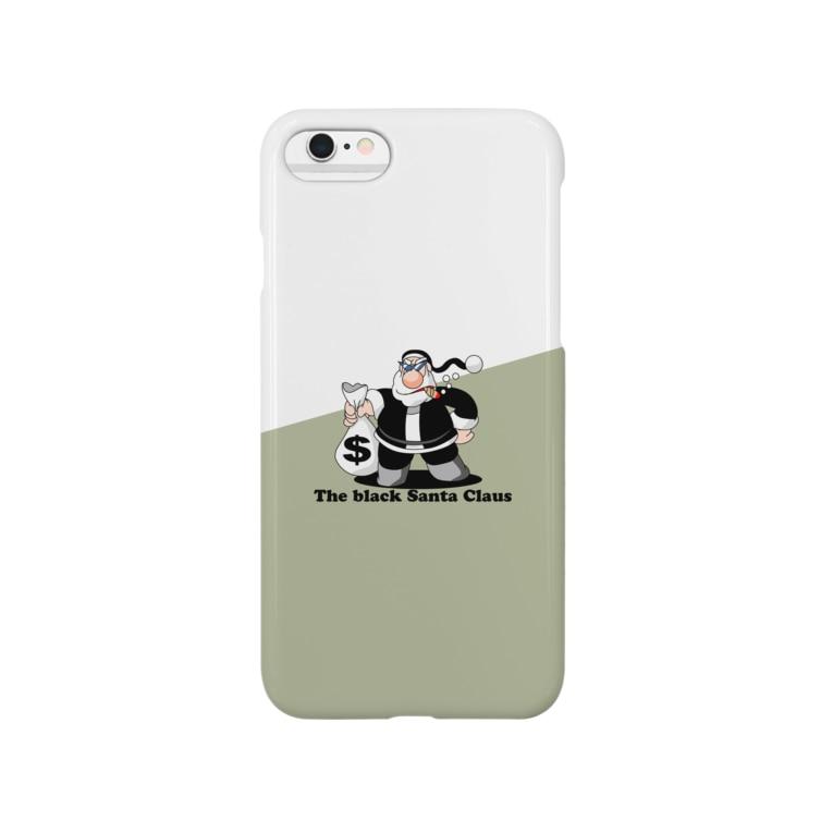 川野隆司のBLACK SANTA Smartphone cases