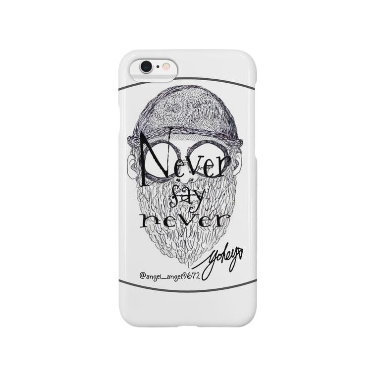 angel_angel9672の髭と帽子と眼鏡(never say never ver) Smartphone cases