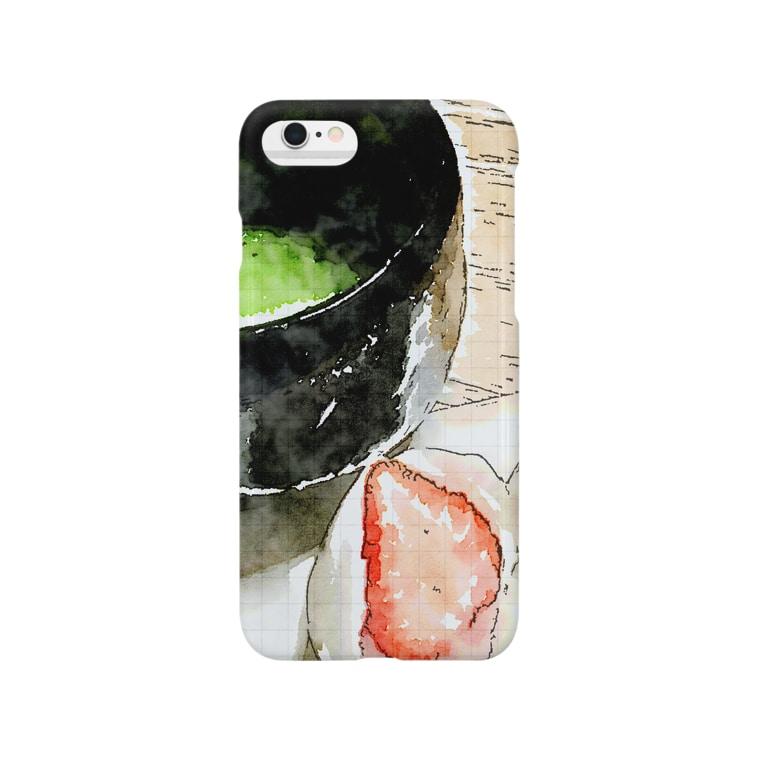hideokamotoの[Cha-no-yu]抹茶と苺大福2 Smartphone cases