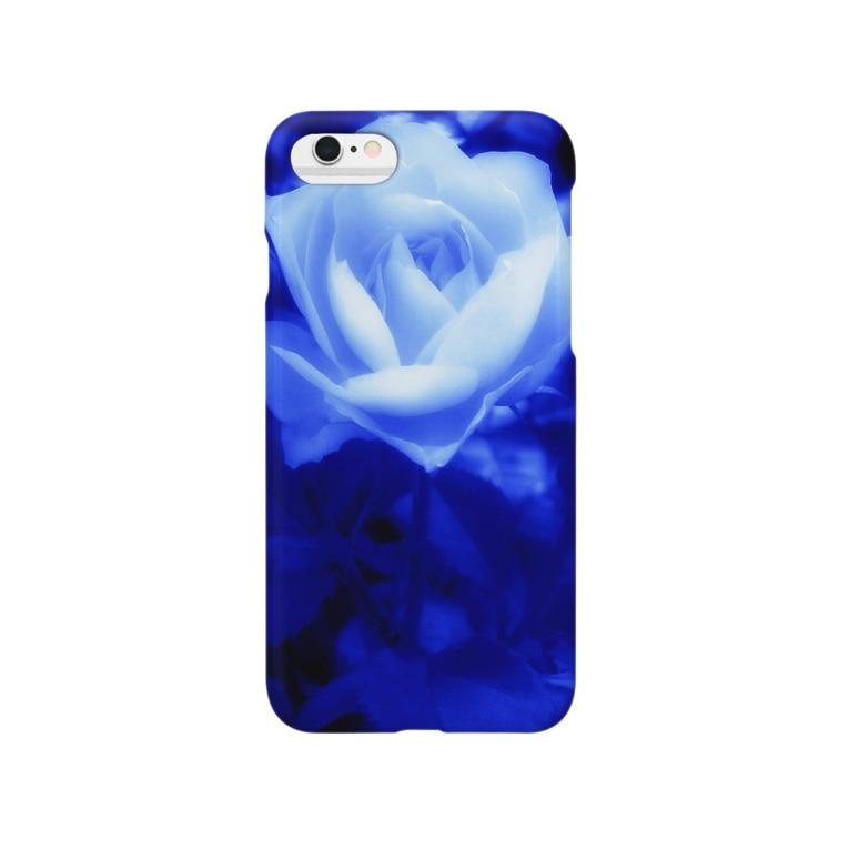 kuasの青いバラ Smartphone cases
