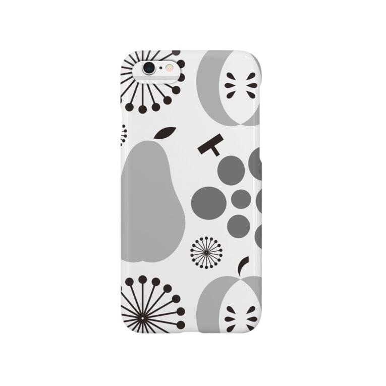goods_drsの昭和の台所スマフォケース  [その壱](灰) Smartphone cases