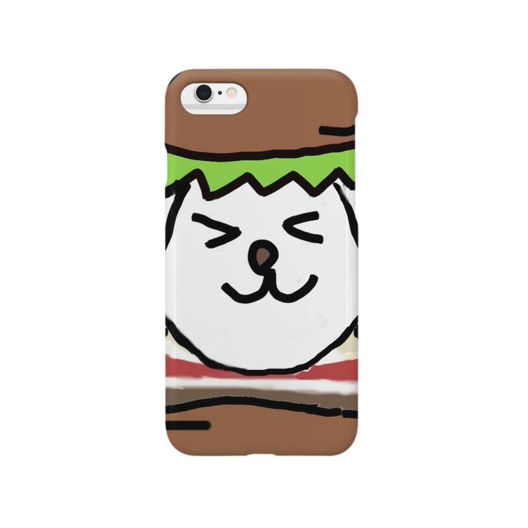 raviaのベーコンレタスワンコバーガー Smartphone cases