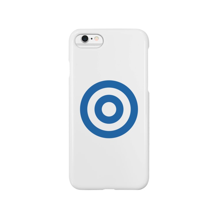 sai3254の蛇の目(ブルー) Smartphone cases