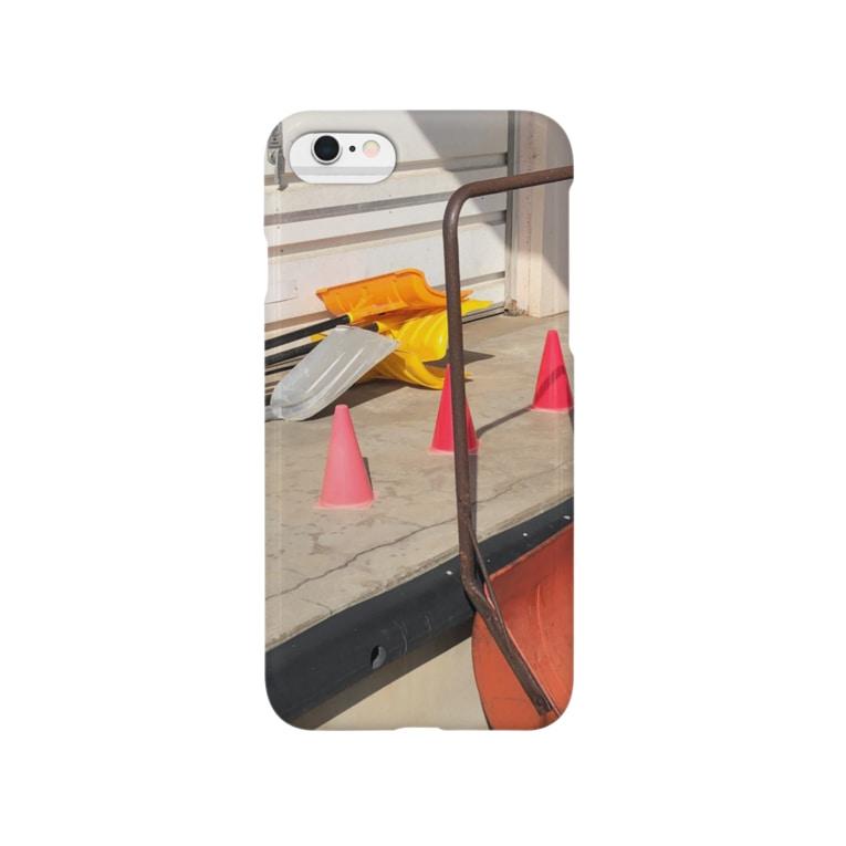 AYRGOODSのカラーコーンと芝刈り機 Smartphone cases