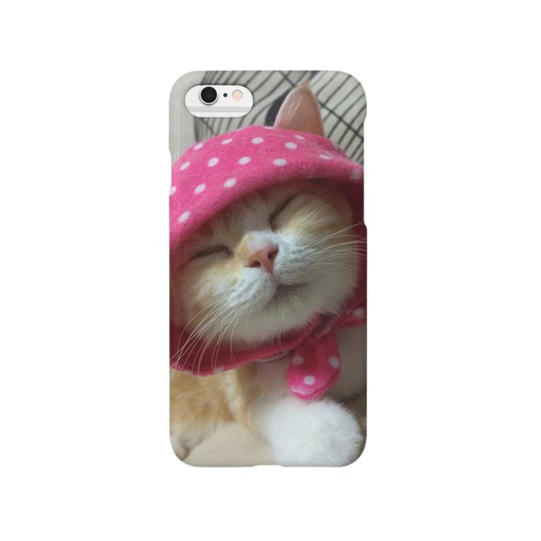 蓮華@タイムライン不具合のねこずきん Smartphone cases