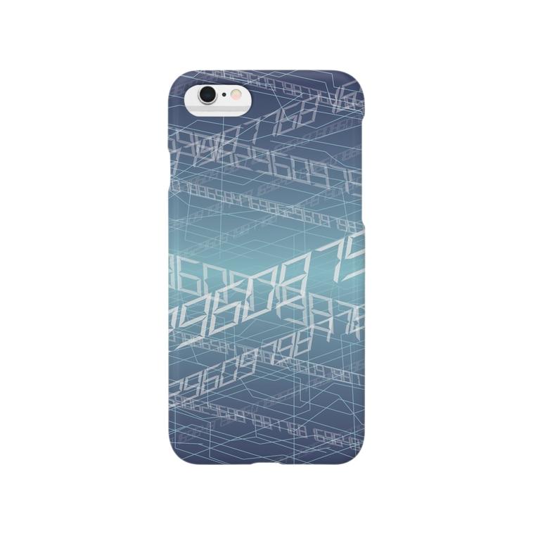 omeganyの電脳空間 青 Smartphone cases