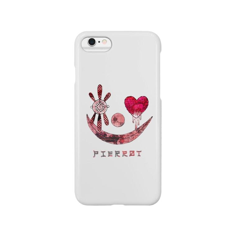 ゐろゐろ屋のPIERROT(WHITE) Smartphone cases