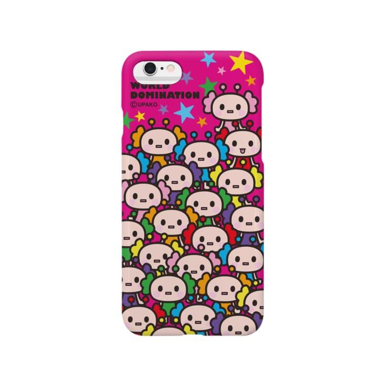 うぱこ先輩のうぱ星人 ピンク Smartphone cases