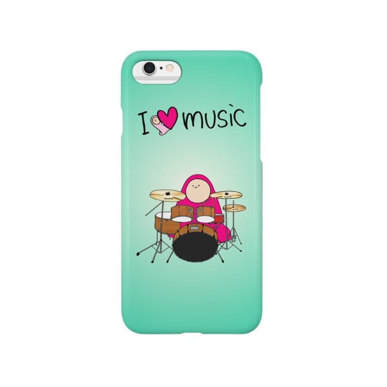 フトンナメクジのI LOVE MUSIC - アイラヴミュージック ドラムVer.  Smartphone cases