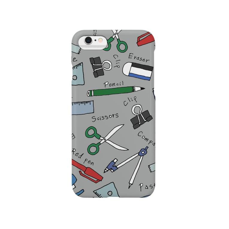 イチハシコのぶんぼうぐ /gray Smartphone cases