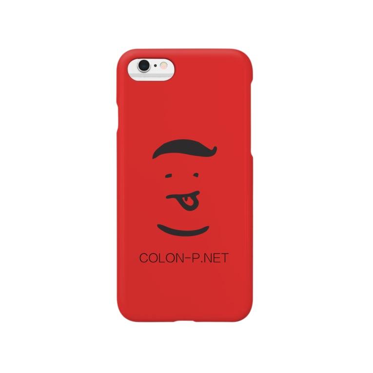colon-pのコロンピさんのiPhoneケース(レッド) Smartphone cases