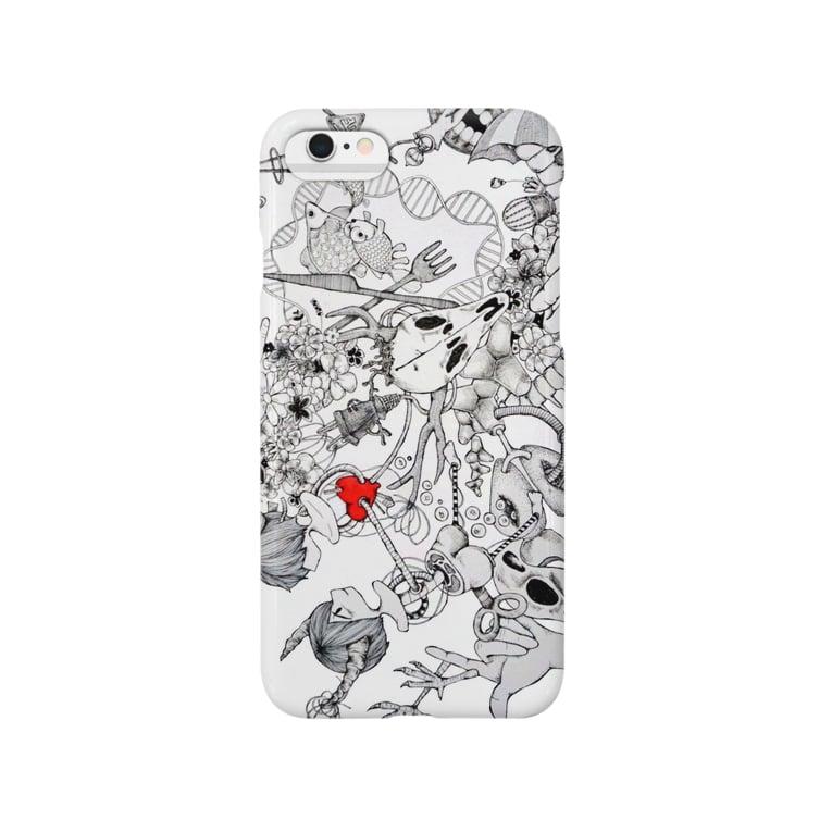 うみつき(:]ミの角っ子と朱 Smartphone cases