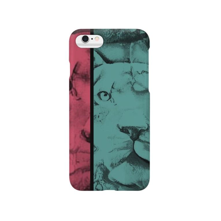 yoshica's design caféのライオン[ダブル‐トーン(double tone)] Smartphone cases
