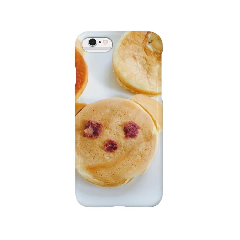 lucky wonder worldのくまちゃん今川焼♡ Smartphone cases