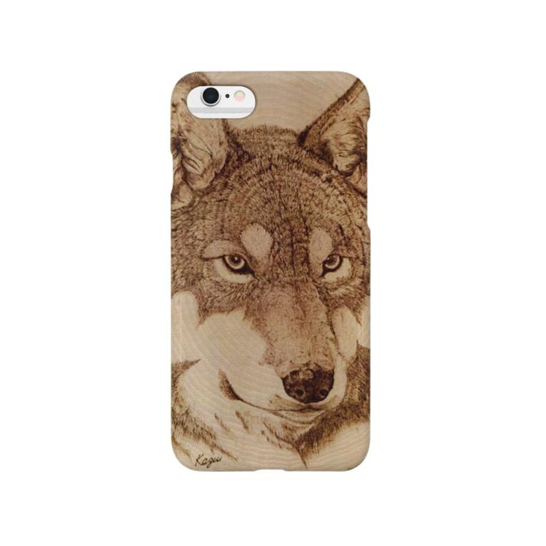nature boxのWolf Face Smartphone cases