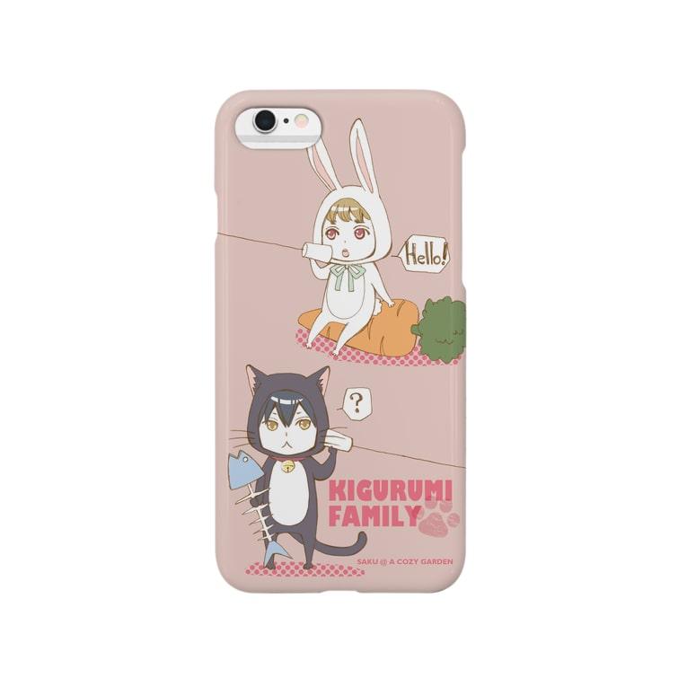 A Cozy Gardenの着ぐるみ一門の野望スマホケース(ピンク) Smartphone cases