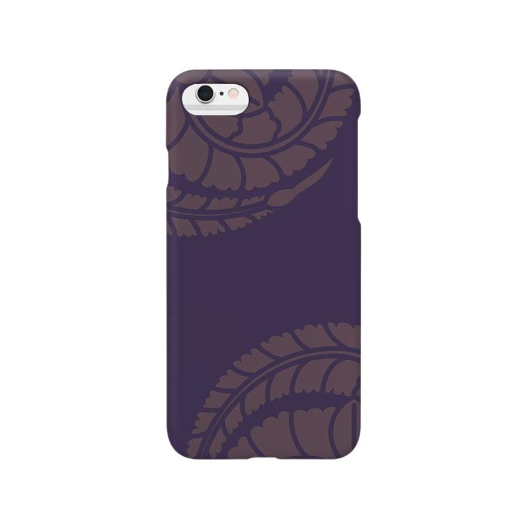 賽子の藤巴 紫 Smartphone cases