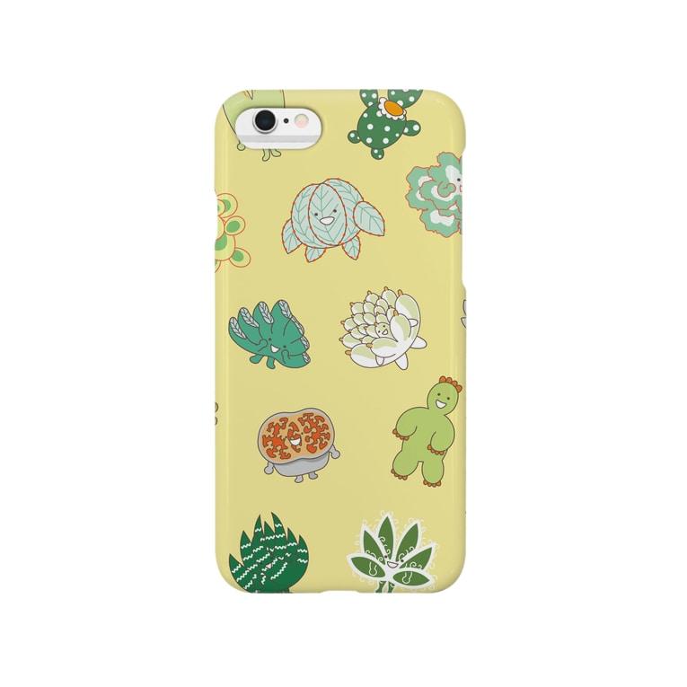 多肉植物たにくさんの多肉植物たにくさん Smartphone cases