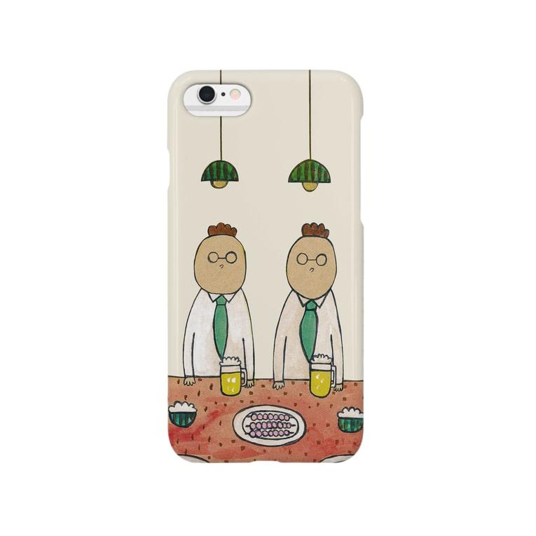 100galleryのすいか食堂 夜の7時 Smartphone cases