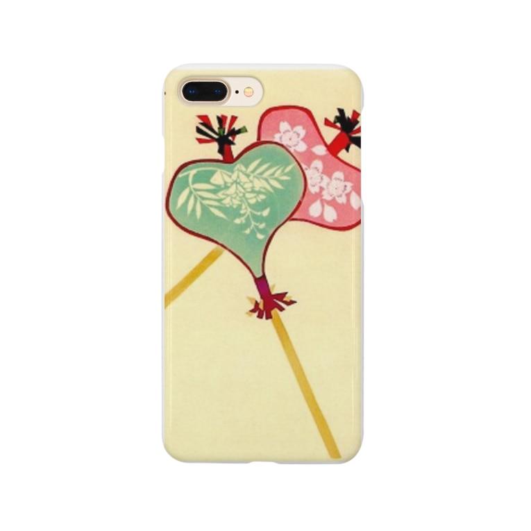 art-healing-awazuの唐招提寺・うちわまき団扇 Smartphone cases
