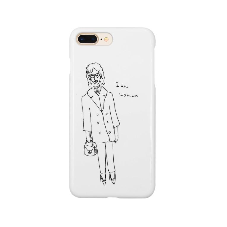 ミュンゼルアンジュのI am woman レトロガール Smartphone cases
