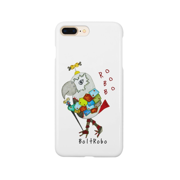 ねこぜや の ROBOBO ヨウムのボルトロボ  Smartphone cases