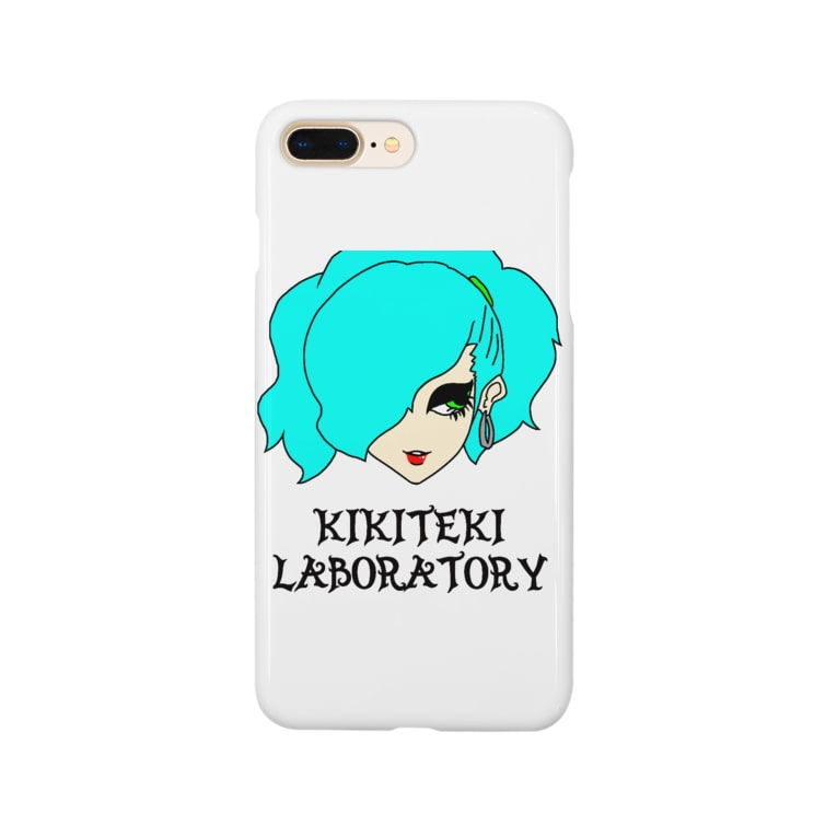 KIKITEKI_LABORATORYのPONITE GAL ミント×黄緑 Smartphone cases