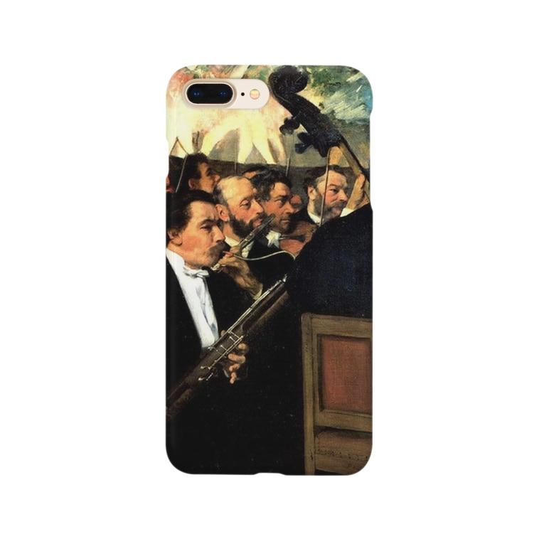 名画スマホケース・オンラインストア【クラウド】のドガ「オペラ座のオーケストラ」 Smartphone cases