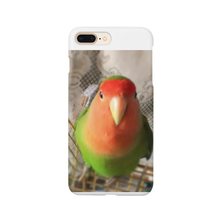 JADEのインコ界の用心棒、ジェイド之介 Smartphone cases