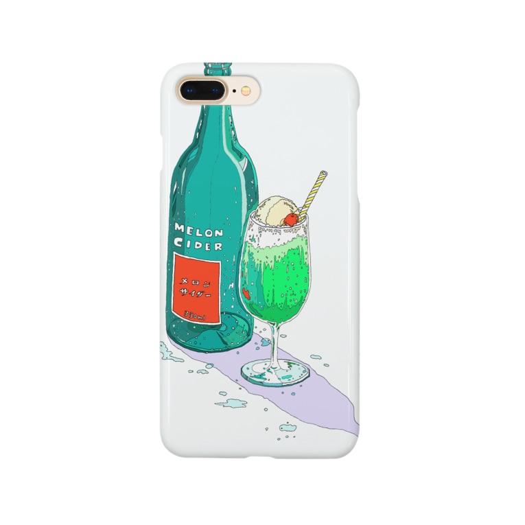 かしわの午後のメロンサイダー Smartphone cases
