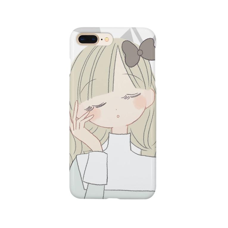 よしだゆうの目をとじてる子 Smartphone cases
