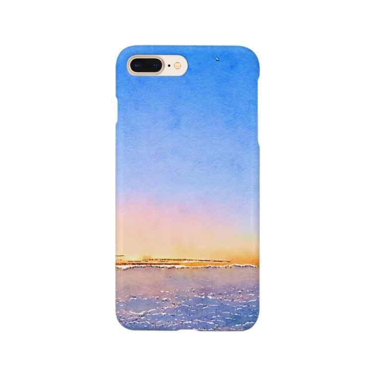 Marbleの富士山夜明け前 Smartphone cases
