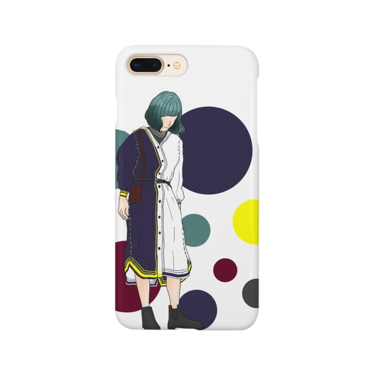 ミドリ ハナ@maro_coの緑髪女子 Smartphone cases