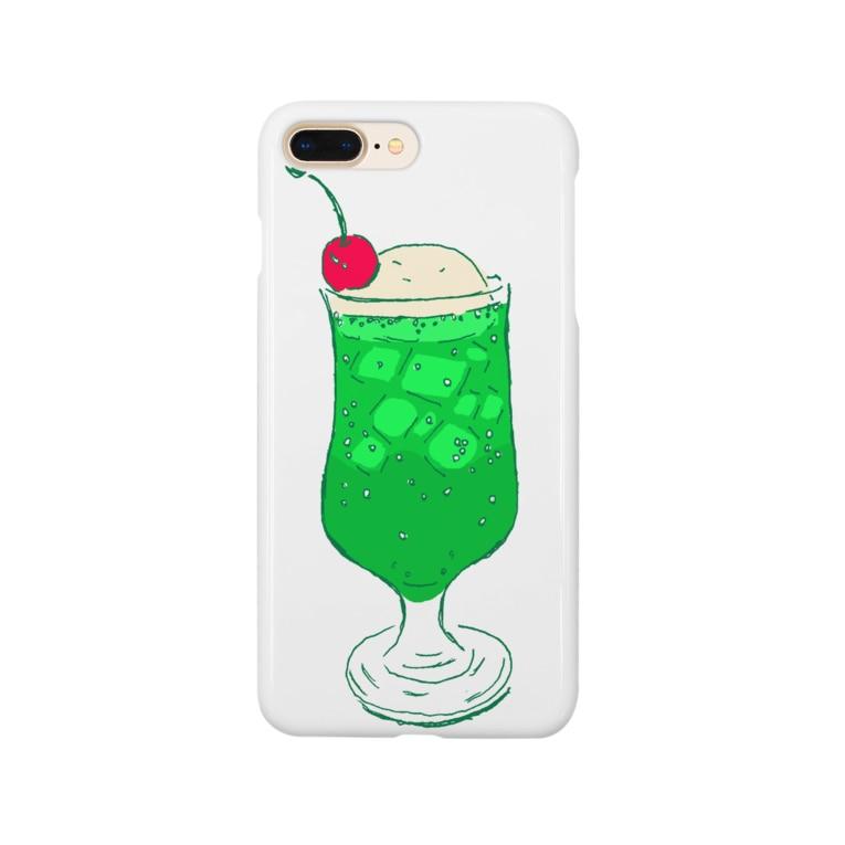 NIKORASU GOのメロンクリームソーダ@文字なし Smartphone cases