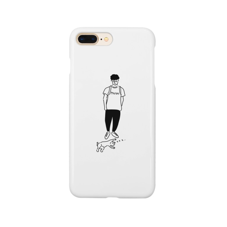AliviostaのMove ヒトとネコ イラスト Smartphone cases