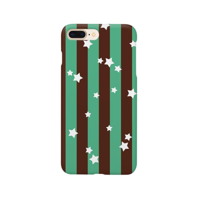 やなぎの気まぐれの★チョコミントストライプ★ Smartphone cases
