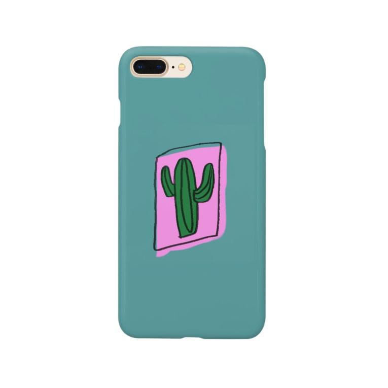 dkdk.のさぼてんケース Smartphone cases